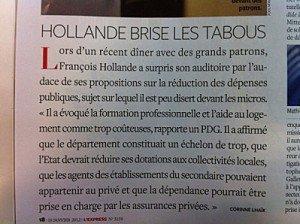 Quand Hollande brise les tabous... dans POLITIQUE Confidentiel-Express-18-01-12-300x224
