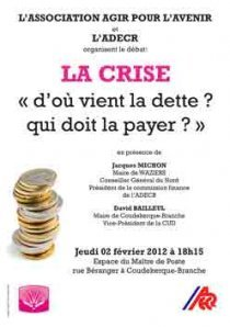Débat citoyen à Coudekerque-Branche, jeudi 2 février : LA CRISE