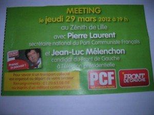 Pierre Laurent et Jean-Luc Mélenchon à Lille le 29 mars  dans Front de Gauche 0022-300x224