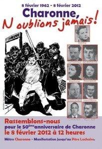 « Charonne, n'oublions jamais » : 50e anniversaire de la répression de la manifestation de Charonne contre la guerre d'Algérie dans HISTOIRE charonne_le_8_fevrier_2_web-205x300