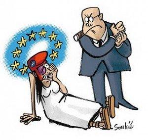 Nouveau pacte budgétaire : les marchés financiers imposent l'austérité à l'Europe dans Austerite marianne-ue-article-300x283