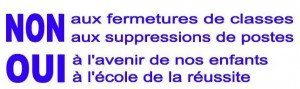Le massacre de l'École publique à la tronçonneuse, ça suffit ! dans Education nationale non-aux-fermetures-300x89
