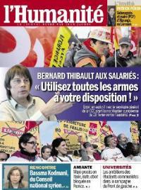 une_huma_du_27_fevrier_web Bernard Thibault dans ECONOMIE