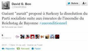 Pour Sarkozy les opposants sont des terroristes et François hollande un dangereux bolchevique ! dans Democratie capture-twitt-300x174