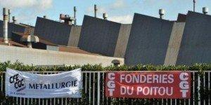 Fonderie du Poitou Aluminium : les salariés ont manifesté à Nanterre et sur les Champs-Elysées dans ECONOMIE poitou_0-300x150