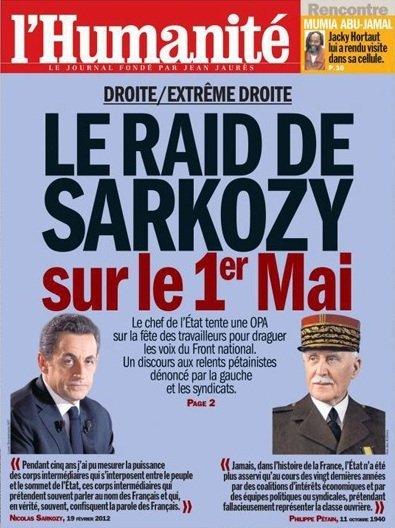 Les unes de l'Humanité et de Libération provoquent la colère de l'UMP dans F. Hollande 3535392-2