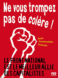 L'imposture sociale du FN dans F-Haine Affiche-Anti-FN