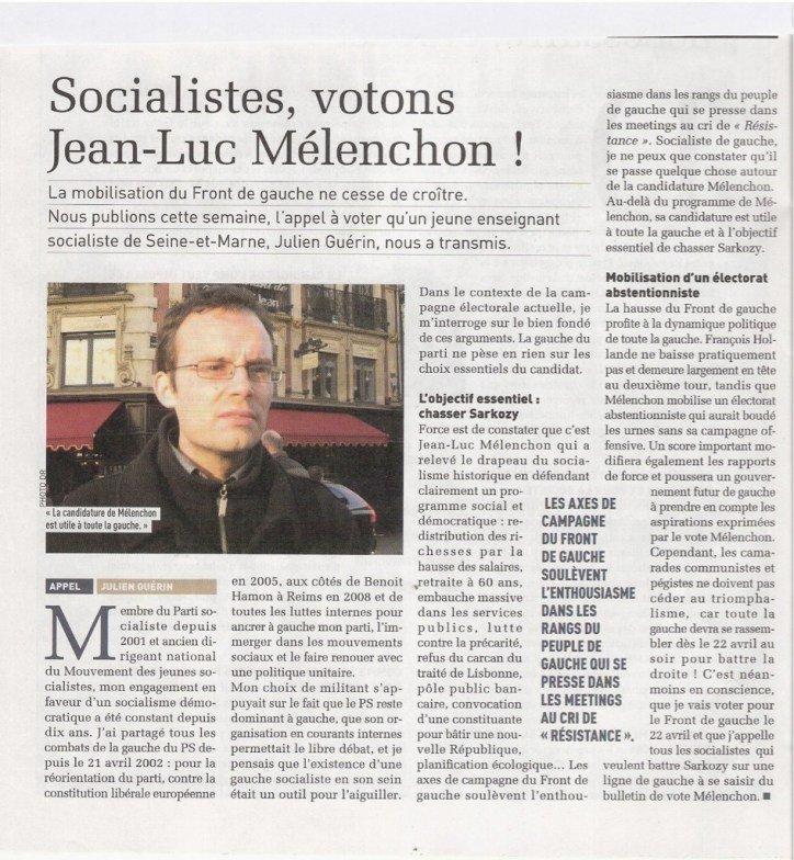 Un socialiste, ancien dirigeant du MJS, appelle à voter Mélenchon dans Front de Gauche aqyxg5nceaatnwk-large