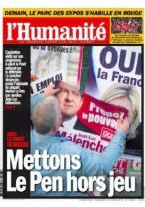 Dans l'Humanité, ce mercredi, le Front de gauche, antidote électoral au FN dans F-Haine une_13-211x300