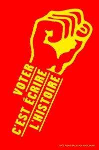 Le 22 avril, votez pour une Gauche forte, votez Front de Gauche ! dans PCF-Front de Gauche Feignies voter-c-est-ecrire-l-histoire-199x300