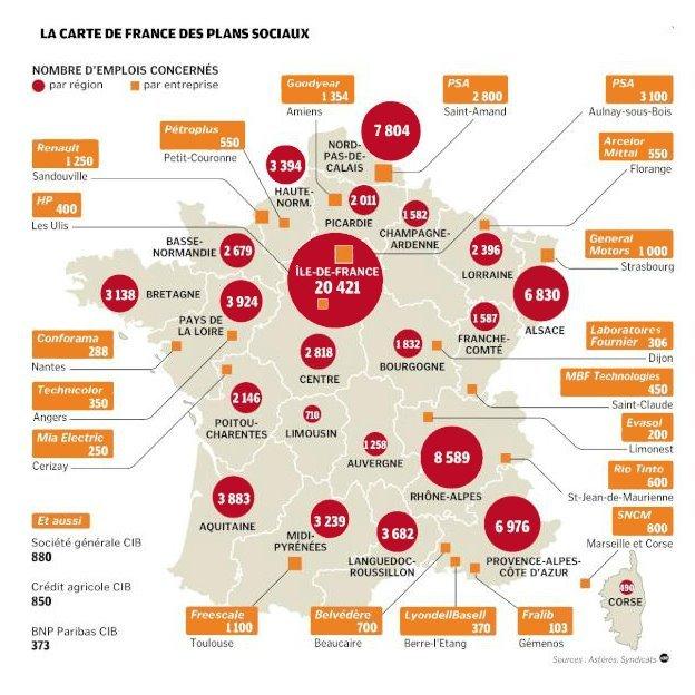 La carte des plans sociaux annoncés dans Chomage carte_plan_sociaux