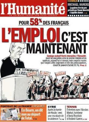 Ce mardi dans l'Humanité : pour 58% des Français l'emploi, c'est maintenant dans l'Humanité huma-29