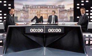 Débat : réaction de Pierre Laurent et de Jean-Luc Mélenchon dans Jean-Luc Melenchon mm-hollande-et-sarkozy-sur-le-plateau-du-debat-300x183