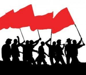 Un syndicaliste en colère dans F-Haine partisans-300x262