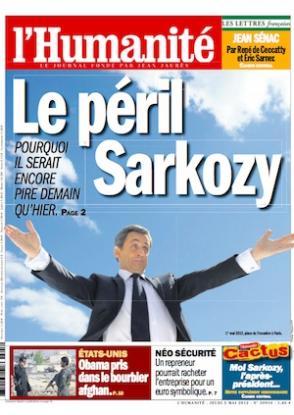 Dans l'Humanité de ce jeudi : tourner la page du Sarkozysme le 6 mai dans l'Humanité une_14