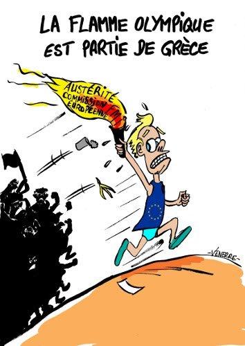 Humour et politique : La Flamme Olympique dans Grece La_flamme_olympique-ec87e
