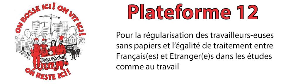 Plateforme 12 : Pour « l'égalité de traitement entre Français et Etrangers dans les études comme au travail » dans CGT bandeau11