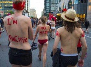 Montréal : Manifestation des étudiants contre le Grand Prix de F1 dans Canada seinnus1-300x220