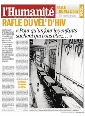 Dans l'Humanité de ce lundi : se souvenir du Vel' d'Hiv dans France 2012-07-15vel-d-hiv-hq