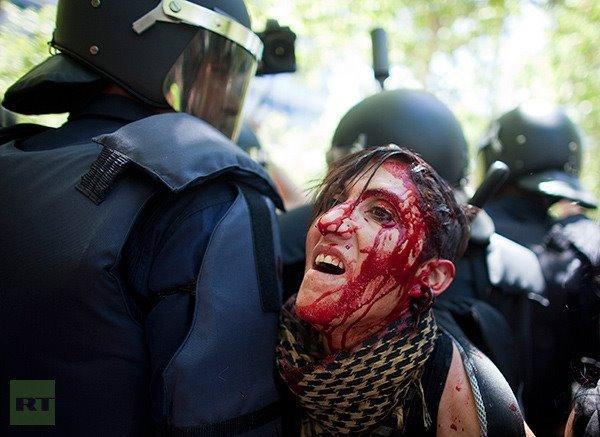 Manifestation des mineurs espagnols - La police ouvre le feu : 76 blessés dans Emplois 255289_10151014726659411_929830424_n