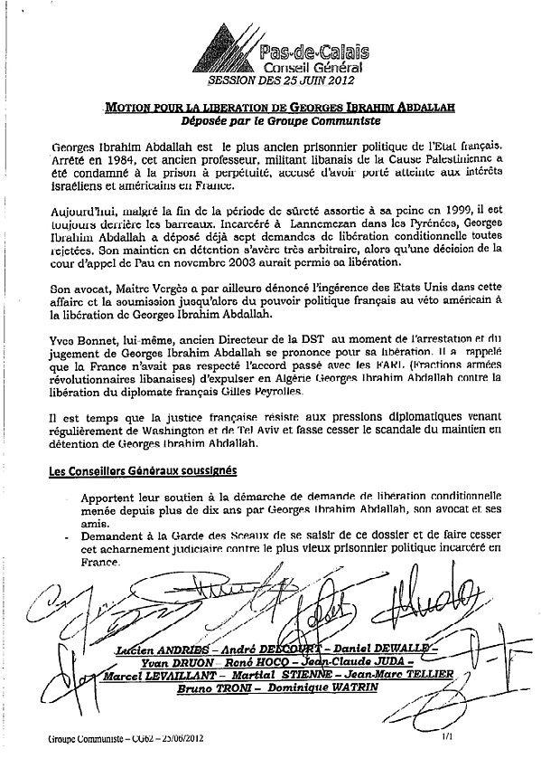 Les conseillers généraux communistes demandent la libération de Georges Ibrahim Abdallah (25-06-12) dans France Motion-pour-la-liberation-de-Georges-Ibrahim-Abdallah-25-0