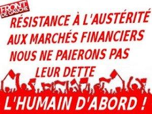 Le Front de gauche se mobilise pour un référendum sur le pacte  budgétaire européen dans Austerite resister-300x225