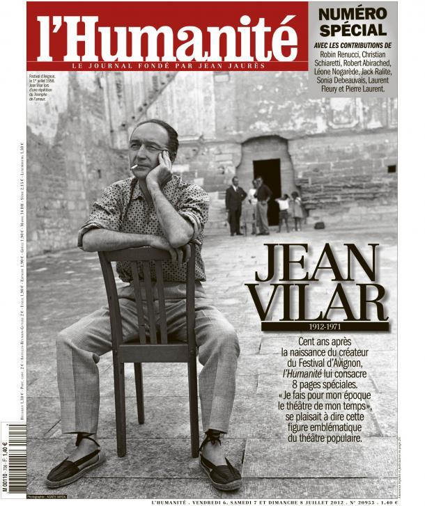 L'Humanité rend hommage à Jean Vilar dans Culture vilar