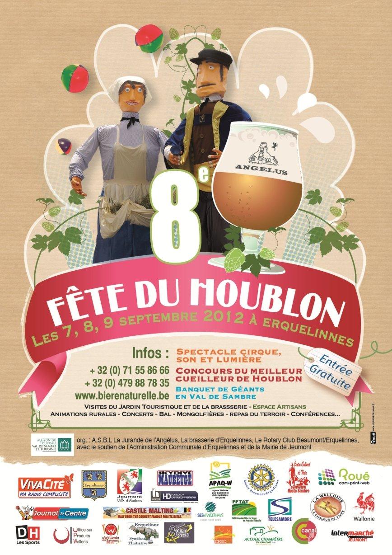 Huitième édition de la Fête du Houblon à Erquelinnes. houblon