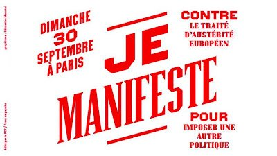 Des féministes appellent à la manifestation du 30 septembre contre le Pacte budgétaire dans France marchal-je-manifeste
