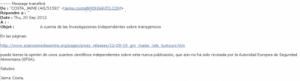Étude sur les OGM : Monsanto contre-attaque dans Environnement monsanto_email-2e927-300x81