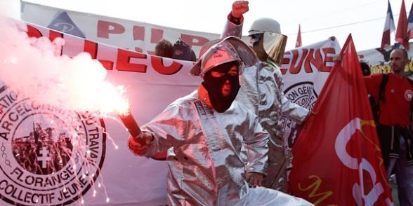 Manifestation pour l'interdiction des licenciements à la Fête de L'Humanité dans CGT mune