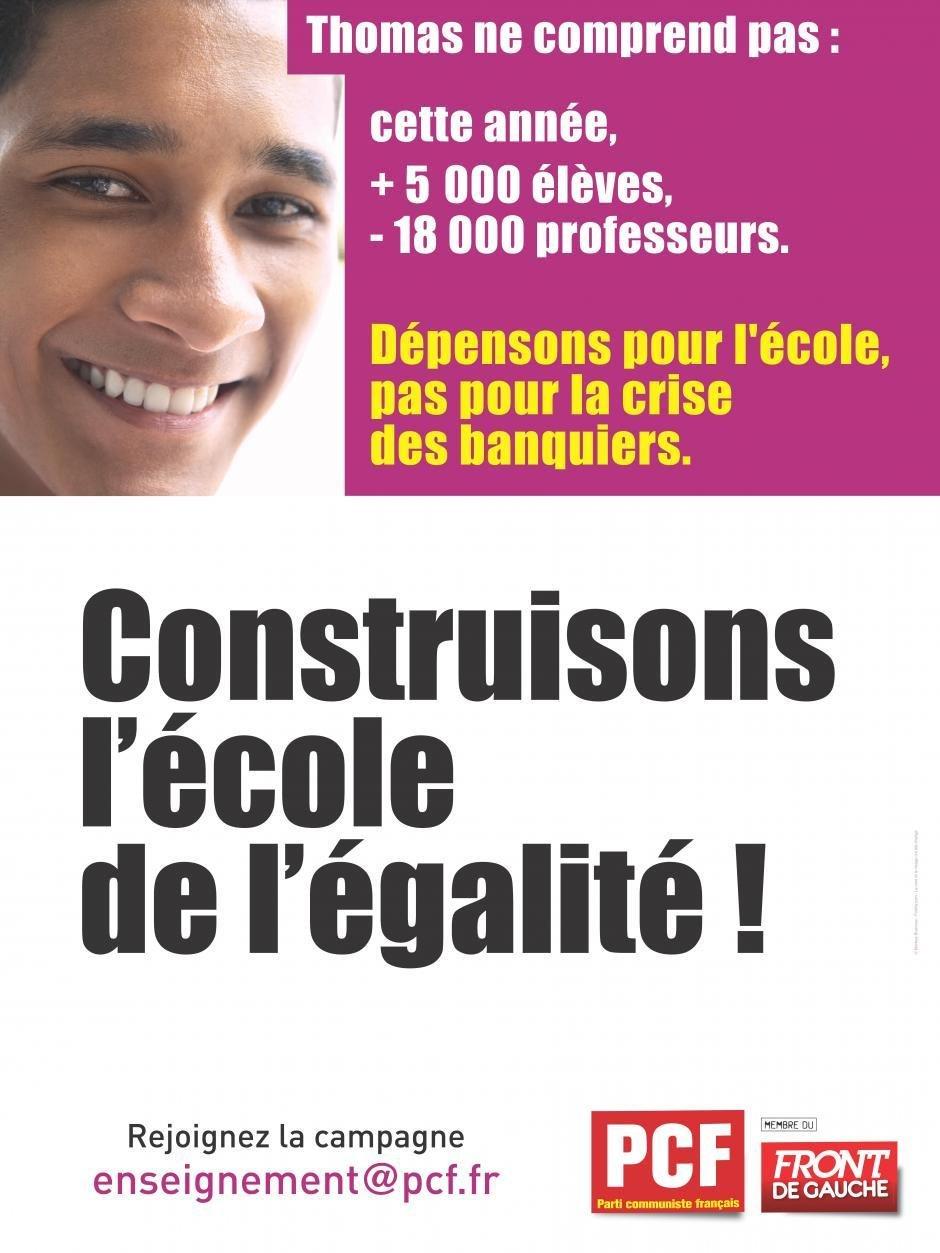 Campagne du PCF pour une École de l'égalité (pétition) dans Education nationale thomas_0