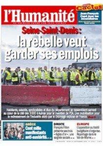 Dans l'Humanité de ce jeudi : le 93 se rebelle contre la saignée des emplois dans Chomage une-hq_7-211x300