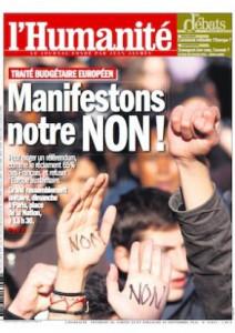 Pacte budgétaire européen : Manifestons notre NON ! dans Austerite une-hq_9-212x300