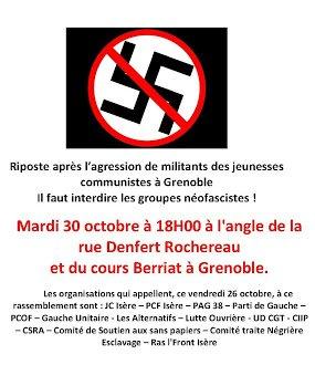 Grenoble : 6 jeunes communistes agressés par des militants d'extrême droite dans Extreme-droite document2