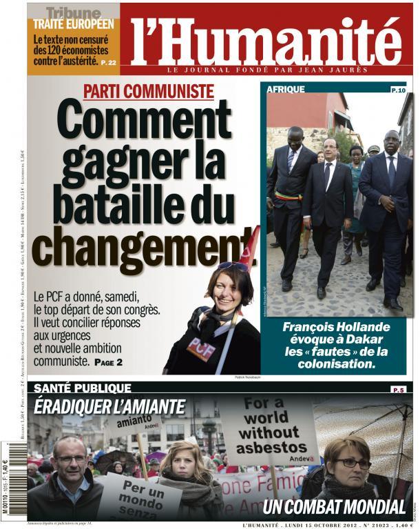 PCF : un parti utile au changement dès maintenant dans Front de Gauche huma