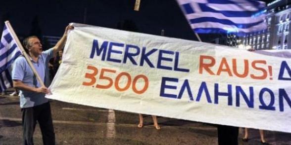 Visite de Merkel à Athènes :