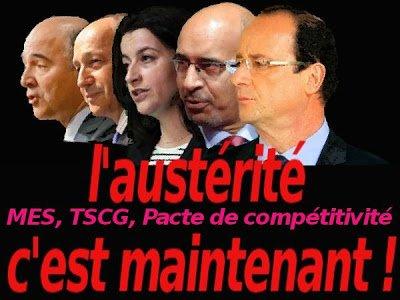 Duperie : devenu président, François Hollande conduit une politique sociale libérale dans Austerite auster