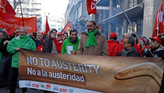 Bruxelles en colère contre l'austérité dans Austerite belge