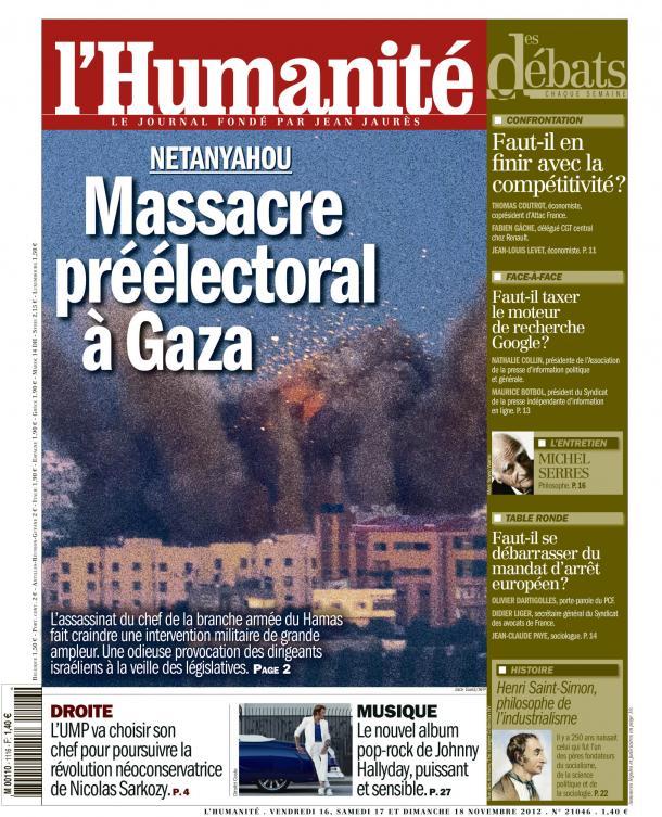 Massacre préélectoral à Gaza dans GAZA - PALESTINE huma1611