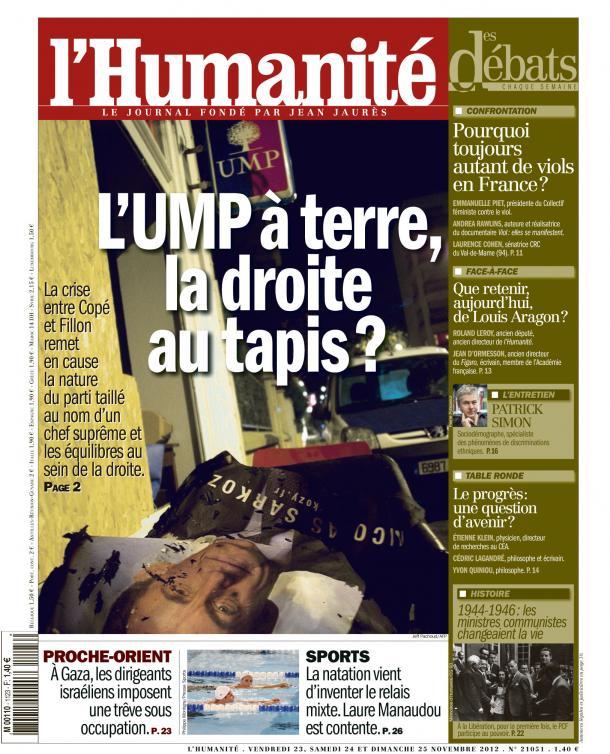 UMP : La guerre de tranchées continue dans France huma2311