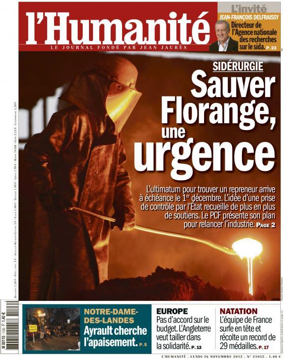 Sauver Florange, une urgence dans ECONOMIE huma2611