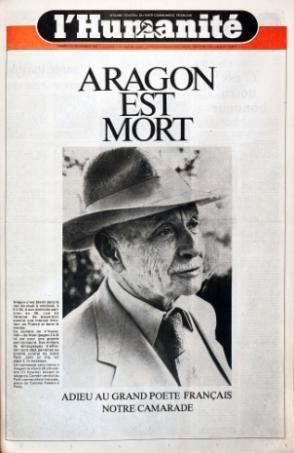 Lundi, dans l'Humanité : hommage à Louis Aragon dans Hommages aragon5