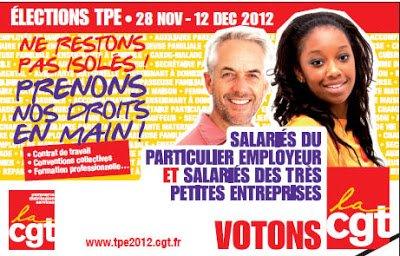 Élections TPE : la CGT largement en tête dans CFDT cgtpe