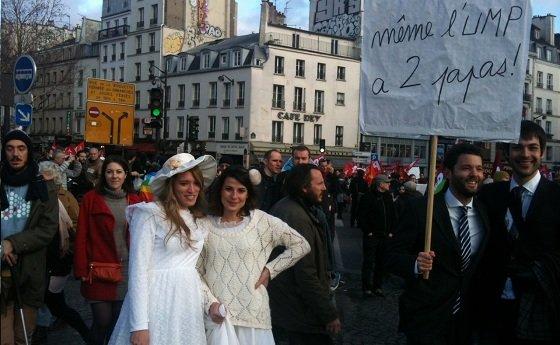 Pari réussi pour la mobilisation pour le mariage pour tous dans France homo3