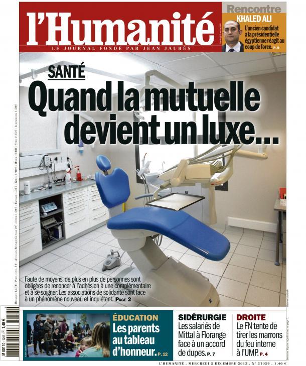 Quand la mutuelle devient un luxe... dans POLITIQUE huma05121