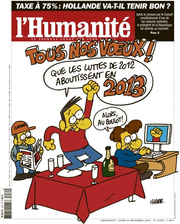 L'Humanité hisse haut les valeurs de solidarité et de progrès social pour 2013.  dans l'Humanité huma3112