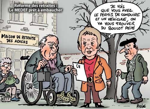 Laurence Parisot s'en prend à nouveau à l'âge de départ à la retraite.  dans France retraites