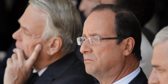 Le gouvernement pas assez de gauche selon des sondages dans F. Hollande sondage1