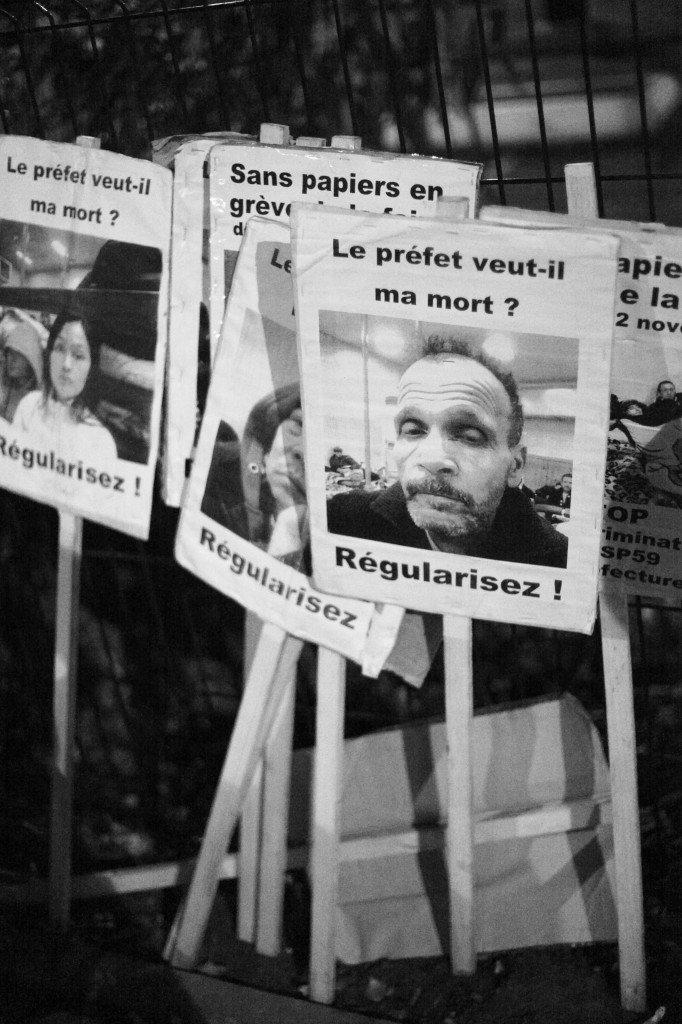 Grève des Sans-papiers à Lille :